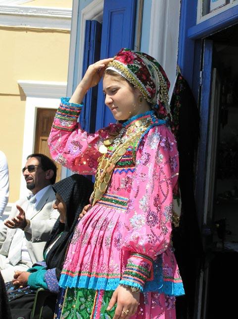 lokaal meisjes kostuum