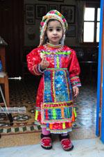 Anna, the dochter of Marina Lentaki of Taverna Olympos on Karpathos 1 - Photo JustGreece.com