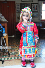 Anna, the dochter of Marina Lentaki of Taverna Olympos on Karpathos 2 - Photo JustGreece.com