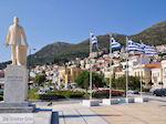 JustGreece.com Greek vlaggen in Samos town - Island of Samos - Foto van JustGreece.com