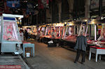 Meat market at the Athinas  street - The Athenian market - Photo JustGreece.com