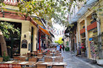Shops Thespidos street in Plaka Athens - Photo JustGreece.com