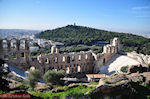 JustGreece.com The Odeion of Herodes Atticus Athens - on the other site the Filopappou Athens hill - Foto van JustGreece.com