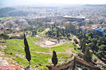 Panoramafoto: the westelijke kant of the Acropolis hill - Photo JustGreece.com