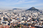 JustGreece.com The Lycabetus Athens from Acropolis - Foto van JustGreece.com