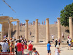 The stoa uit the Hellenistische tijd - Lindos(Rhodes) - Photo JustGreece.com