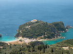 View Paleokastritsa - Op the top of the berg the klooster - Photo JustGreece.com
