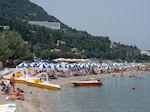 The beach of Benitses Corfu - Photo JustGreece.com