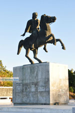 Statue Alexander the Great | Thessaloniki Macedonia | Greece  Photo 3 - Photo JustGreece.com